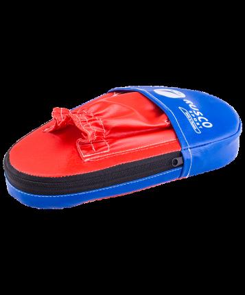 Лапы Rusco Sport прямые малые, кожзам, пара, красный/синий