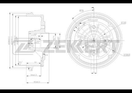 Тормозной барабан ZEKKERT BS-5085