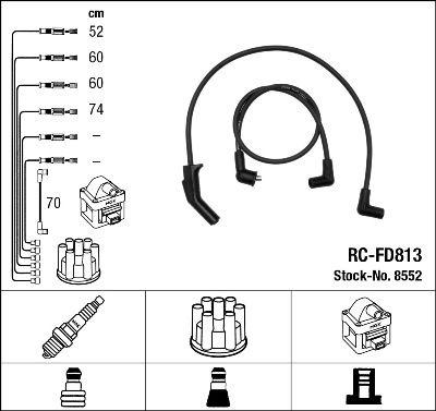 Комплект проводов зажигания NGK 8552