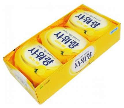 Косметическое мыло Mukunghwa С ярким ароматом лимона 3х130 г