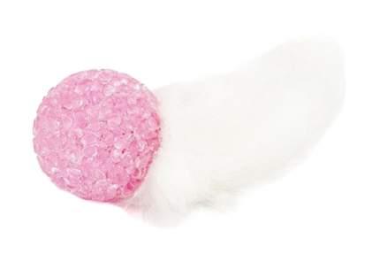 Дразнилка для кошек TiTBiT Хвост кроличий, натуральный мех, розовый, 21 см