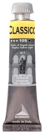 Масляная краска Maimeri Classico неаполитанский желтый светлый 20 мл