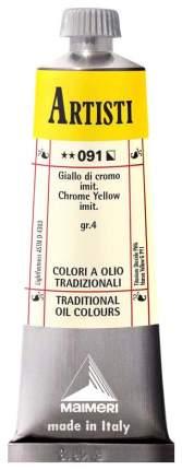 Масляная краска Maimeri Artisti хром желто-оранжевый имитация 40 мл