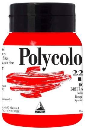 Акриловая краска Maimeri Polycolor 220 красный яркий 500 мл