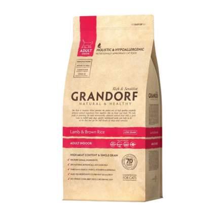 Сухой корм для кошек Grandorf Indoor, для домашних, ягненок, индейка, 2кг