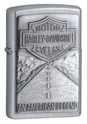 Бензиновая зажигалка Zippo Harley Davidson American Legend Emblem Street Chrome