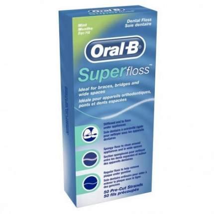 Зубная нить Oral-B Super floss 50 шт