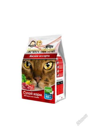 Сухой корм для кошек Ночной Охотник, мясное ассорти, 0,4кг