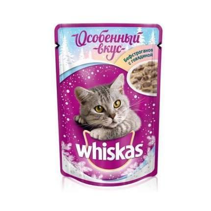 Влажный корм для кошек Whiskas, Новый Год Бефстроганов, 85г