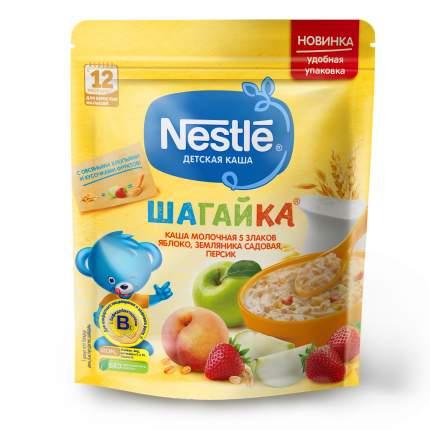 Каша молочная Nestlé ШАГАЙКА 5 злаков яблоко, земляника садовая, персик с 12 мес 200 г