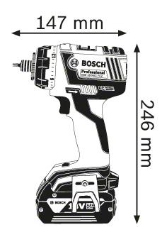 Аккумуляторная дрель-шуруповерт Bosch GSR 18 V-EC FC2 06019E1101