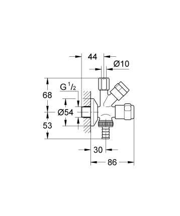 Угловой вентиль Grohe Eggemann Design-Handle 41073000