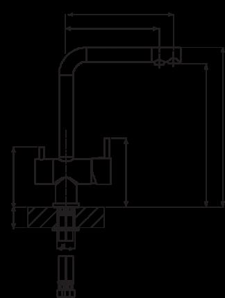 Смеситель для кухонной мойки Florentina Ares AV 30.30H.2120.102 черный