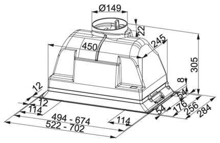 Вытяжка встраиваемая Franke Box FBI 702-H XS Silver
