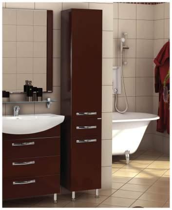 "Шкаф-колонна ""Ария Н"" тёмно-коричневая"