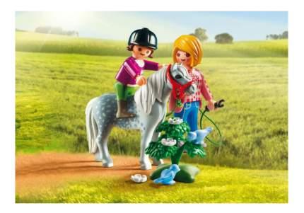 Игровой набор Playmobil PLAYMOBIL Ферма Пони: Пони на прогулке