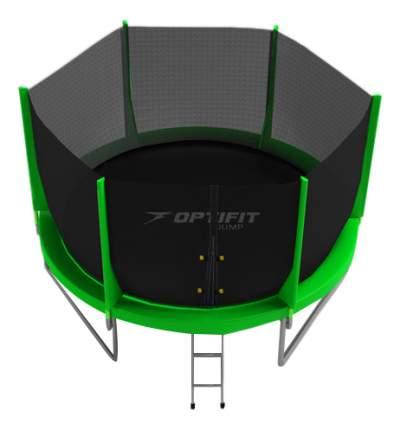 Батут OptiFit Jump с сеткой и лестницей зеленый 183 см