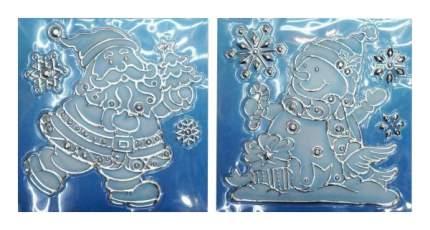 Наклейки новогодние Новогодняя сказка На окна 18х20 см 972719