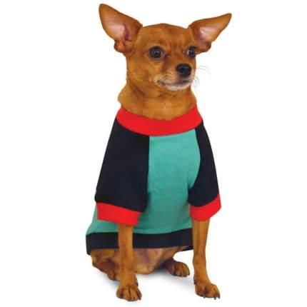Толстовка для собак Triol размер M унисекс, зеленый, красный, черный, длина спины 30 см