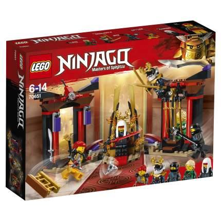 Конструктор LEGO Ninjago Решающий бой в тронном зале 70651 LEGO