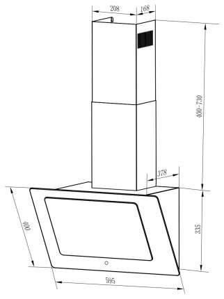 Вытяжка наклонная Weissgauff Tally 60 TC BL Black