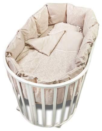 Комплект в круглую кроватку Версаль дымчато-бежевый Сонный Гномик