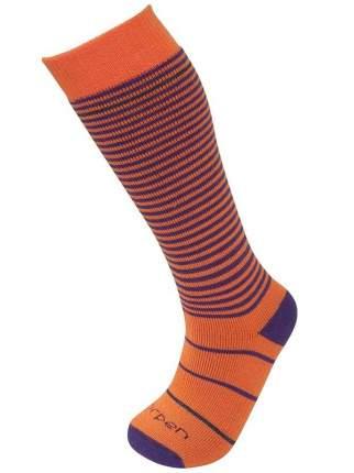Гольфы детские 2 пары Lorpen, цв. фиолетовый; оранжевый р.18-20