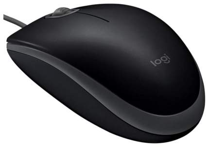 Проводная мышка Logitech B110 Black (910-005508)