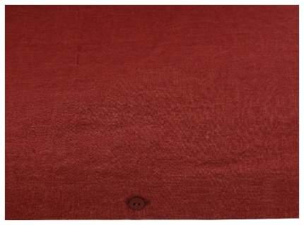 Пододеяльник изо льна бордового цвета Essential 200х200