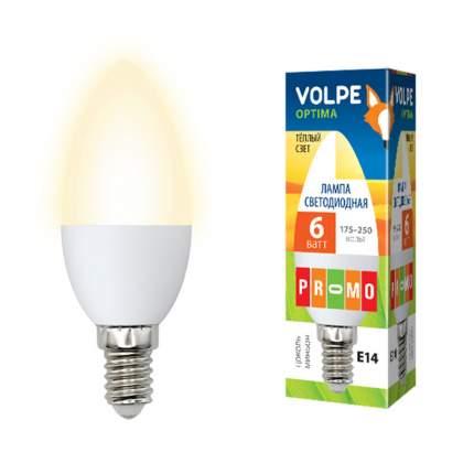 Лампа светодиодная (10214) E14 6W 3000K свеча матовая LED-C37-6W/WW/E14/FR/O
