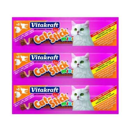 Лакомство для кошек Vitakraft Cat-Stick, колбаски, индейка, ягненок, 3шт по 6г