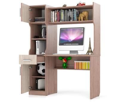 Компьютерный стол Мебельный Двор 43862 МД-1.02, ясень шимо светлый-темный