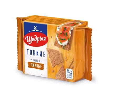 Хлебцы Щедрые тонкие ржаные 170 г