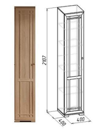 Платяной шкаф Глазов мебель Sherlock 8 GLZ_T0016155 40х40х210,7, коричневый