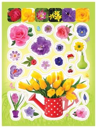 Наклейка декоративная для детской комнаты РОСМЭН Стикерляндия 100 наклеек Цветочки