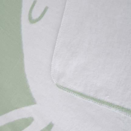 Плед детский Ермолино байковый х/б 140*100 ПРЕМИУМ NEW(омела зайка) олива