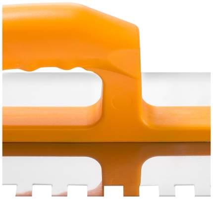 Гладилка Hardy с зубьями, 6ммХ6мм, нержавеющая сталь, пластик.ручка