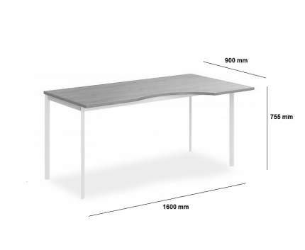 Стол офисный SKYLAND Imago S СА-1S(R) 90x160x75,5