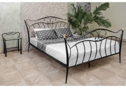 Кровать двуспальная Woodville Mila 160х200 см, черный