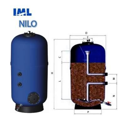 Песочный фильтр для бассейна IML Nilo Д800