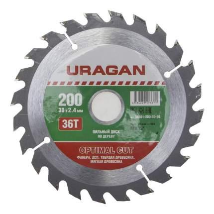 Пильный диск по дереву  Uragan 36801-200-30-36