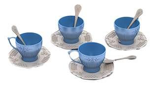 Набор посуды чайный сервиз волшебная хозяюшка, 12 предметов в сетке