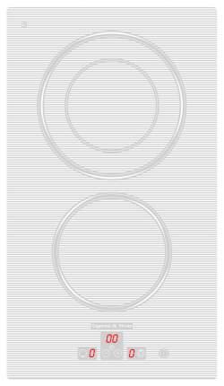 Встраиваемая варочная панель электрическая Zigmund & Shtain CNS 302.45 BX White