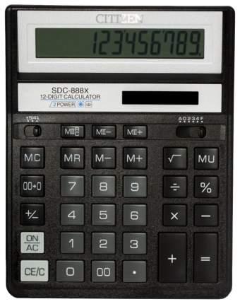 Калькулятор CiTiZEN SDC-888XBK Черный