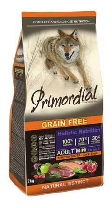 Сухой корм для собак Primordial Grain Free Adult Mini, форель, утка, 2кг