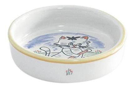 Одинарная миска для кошек Beeztees, керамика, белый, 0.275 л