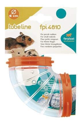 Тоннель для грызунов Ferplast пластик, 6х6 см, цвет прозрачный, оранжевый