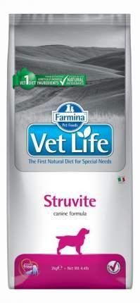 Сухой корм для собак Farmina Vet Life Struvite, при МКБ, курица, 2кг