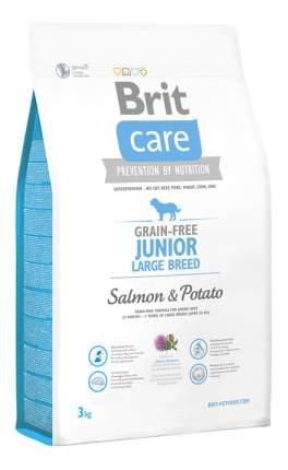 Сухой корм для щенков Brit Care Junior Large Breed, для крупных пород,лосось,картофель,3кг