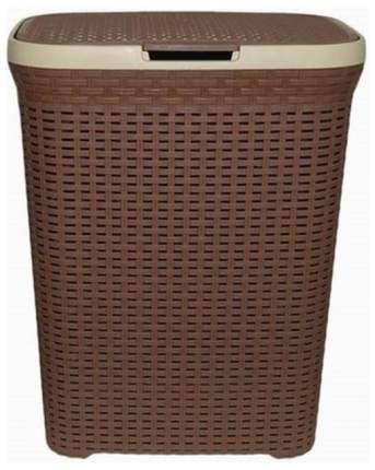 Корзина для белья с крышкой 60 л Виолет Ротанг коричневый (1860/1)